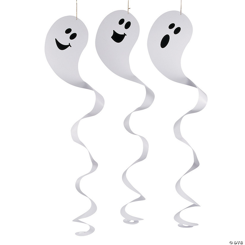 Giant Ghost Hanging Swirls