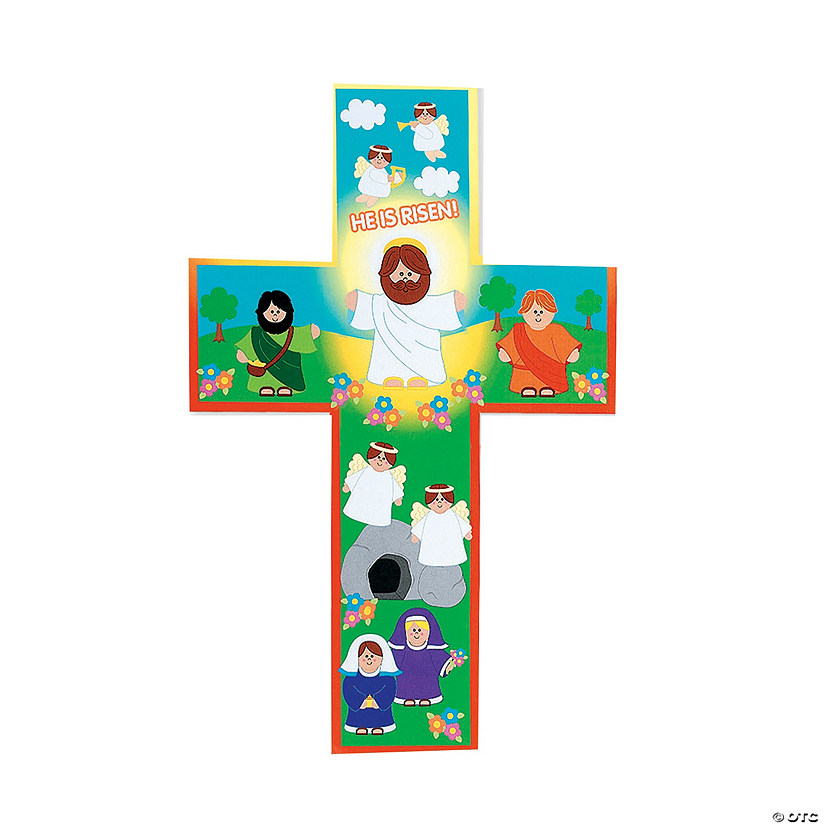 "Giant ""He Lives!"" Cross-Shaped Sticker Scenes"