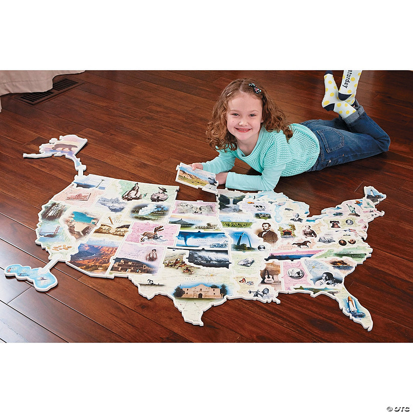 Giant USA Photo Puzzle Map