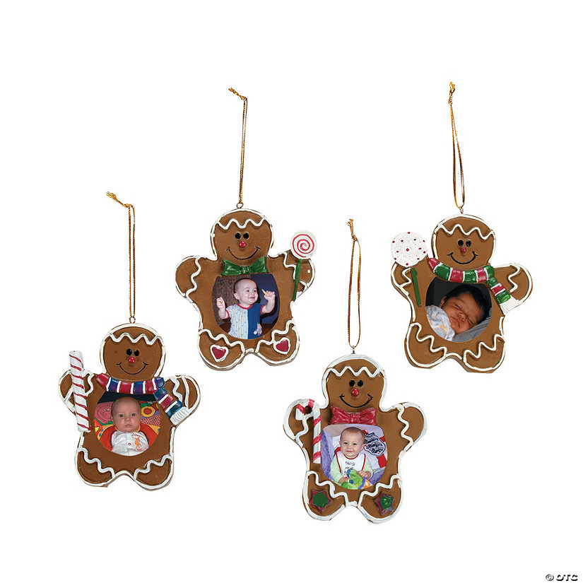 Gingerbread Man Picture Frame Christmas Ornaments