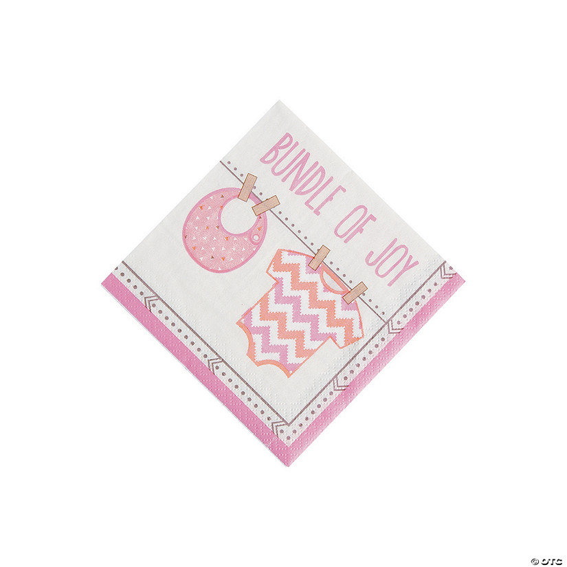 Girl Baby Clothes Beverage Napkins