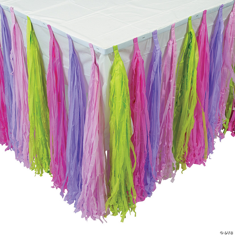 Girl Brick Party Fringe Table Skirt