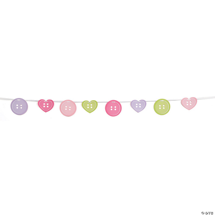 Girl Button Ribbon Garland