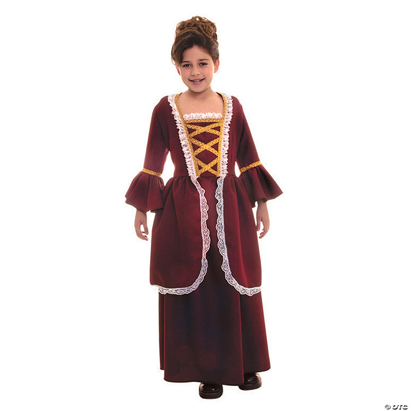 Girl's Colonial Dress Costume