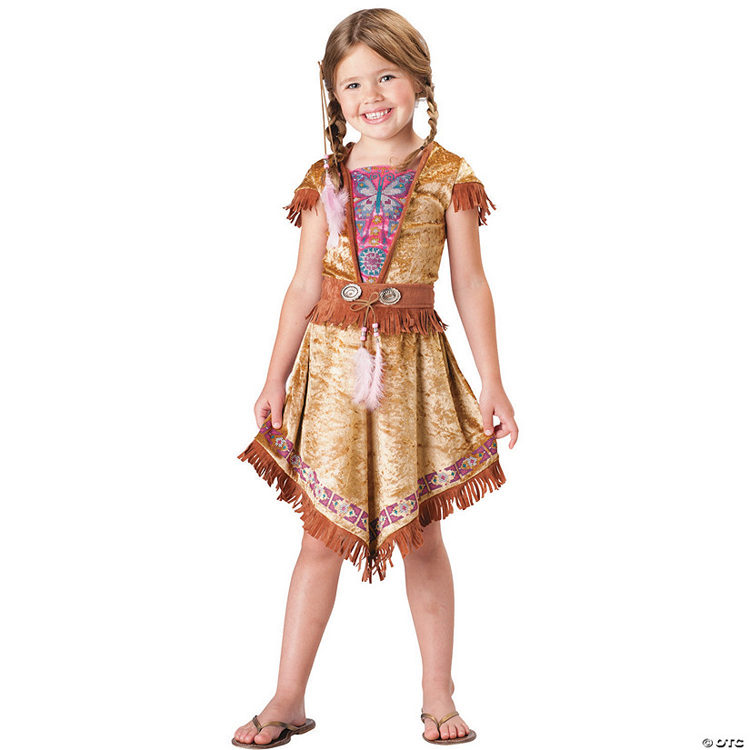 Girl's Colorful Native American Maiden Costume