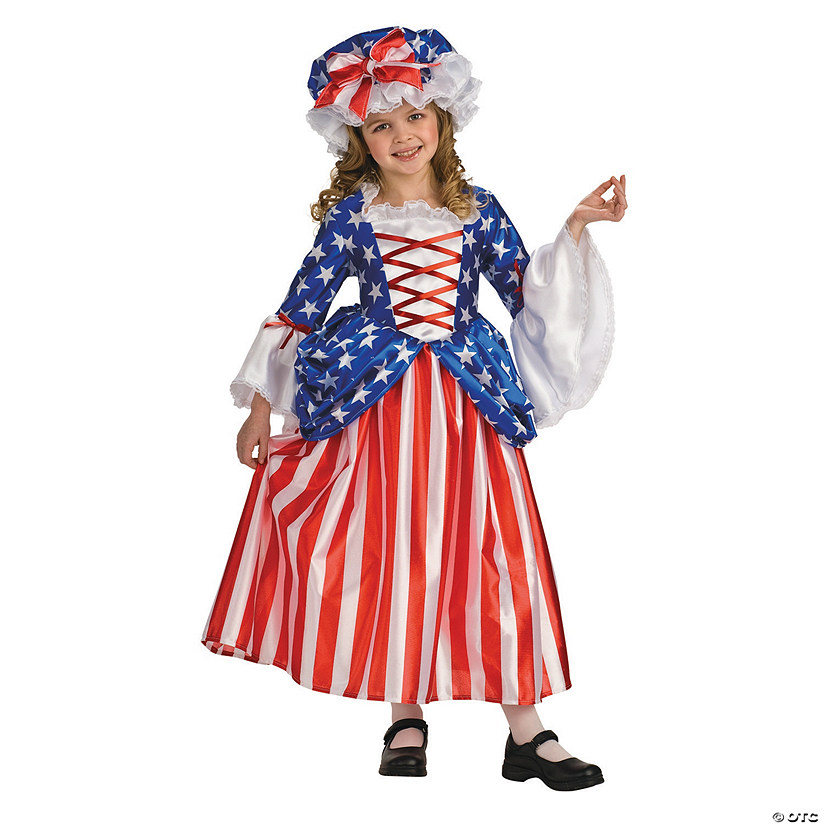 Girl's Patriotic Betsy Ross Costume