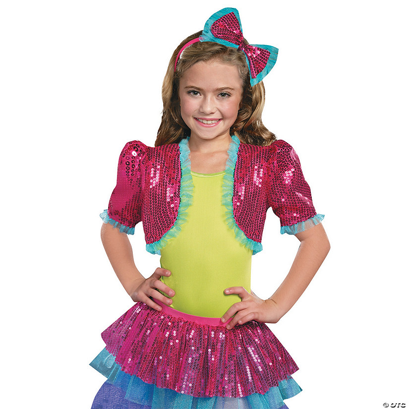 Girl's Pink Dance Craze Bolero Costume