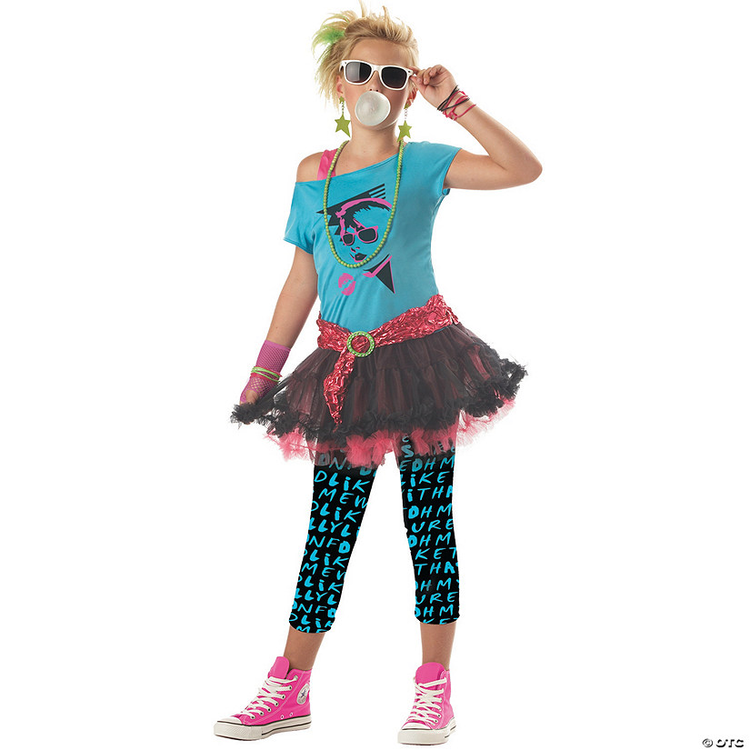 Girl's 80s Valley Girl Costume