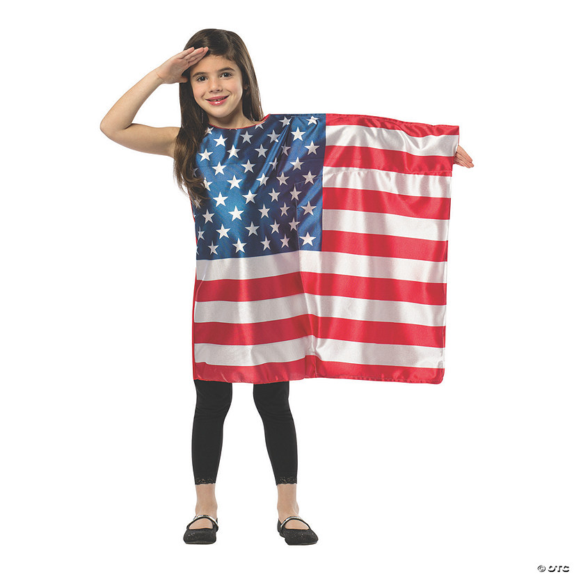 Girl's American Flag Dress Costume
