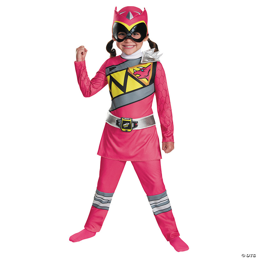 Girls Classic Pink Ranger Dino Halloween Costume for Toddlers