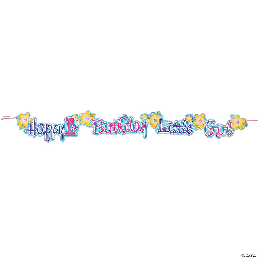 Girl's First Birthday Jointed Banner