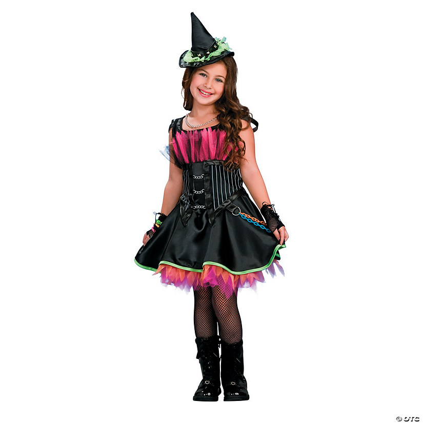 Girl's Rockin' Out Witch Costume - Medium