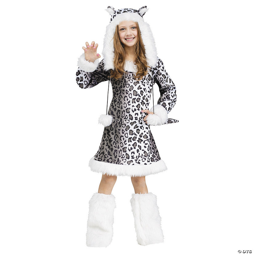 Girl's Snow Leopard Costume