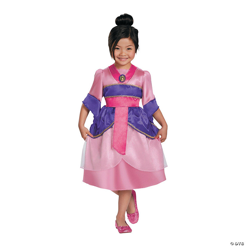 Girl's Sparkle Classic Mulan Costume - Small