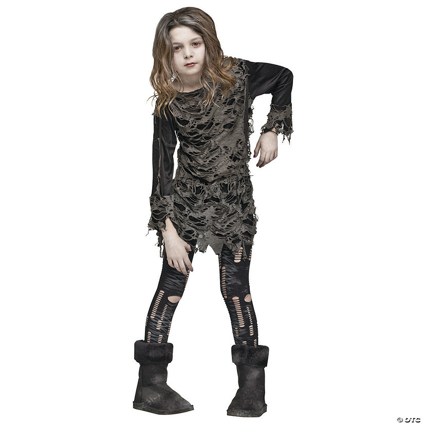 Girl's Walking Zombie Costume
