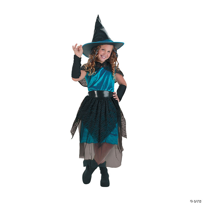 Girl's Witch Turquoise Midnight Costume
