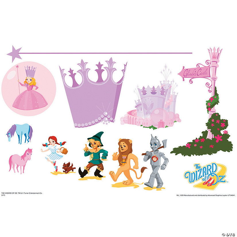 Glinda's World Set - Wizard Of Oz Kids Art Large Wall Jammer™ Wall Decal