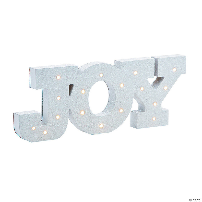 Glitter Joy Light-Up Sign