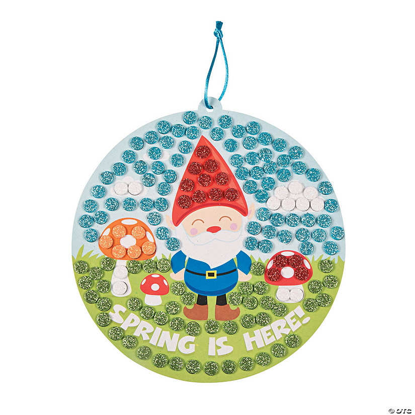 Glitter Mosaic Spring Gnome Sign Craft Kit