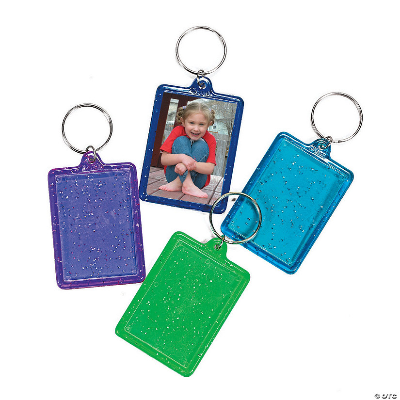 Glitter Picture Frame Keychains
