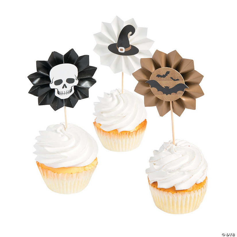 Glitz-O-Ween Fan Cupcake Picks