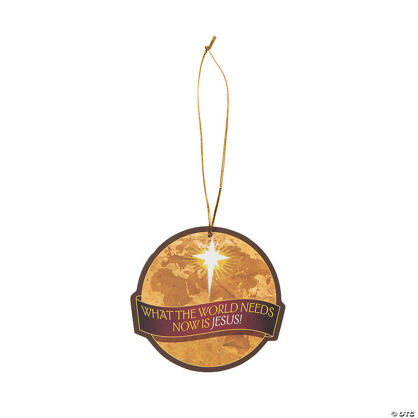 Globe with Religious Message Ornaments