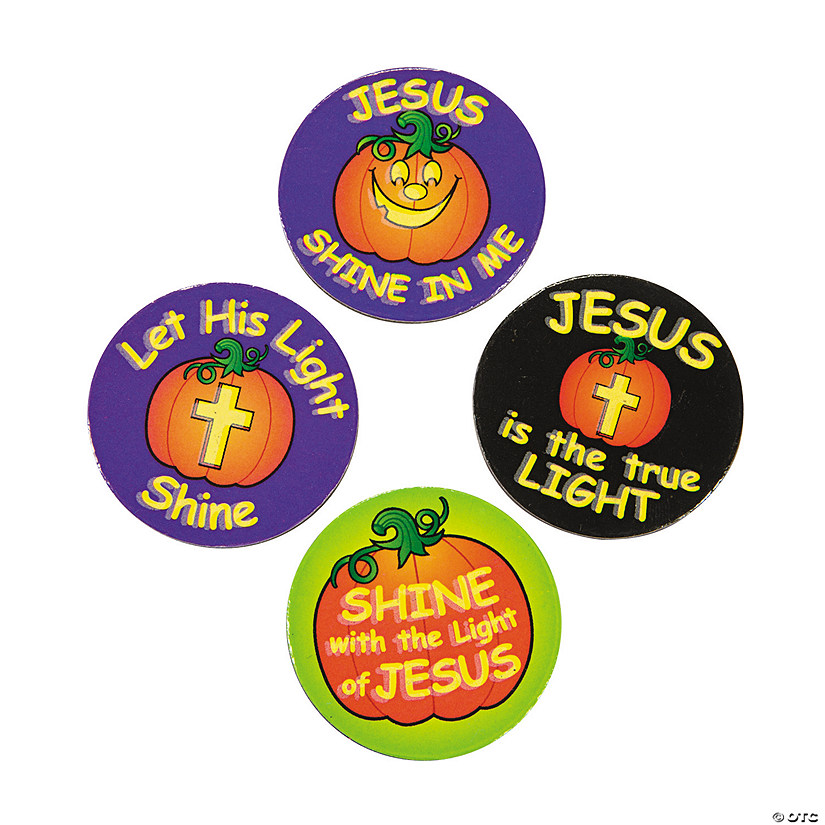 Glow-in-the-Dark Christian Pumpkin Magnets