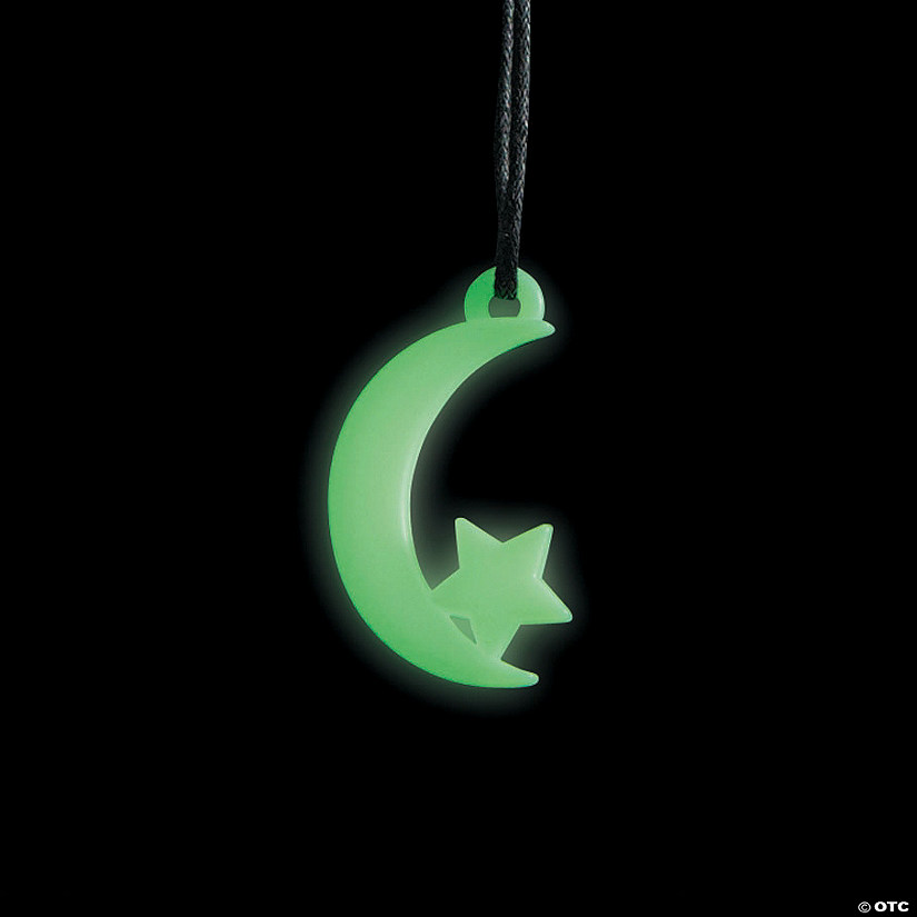 Glow-in-the-Dark Moon & Star Necklaces