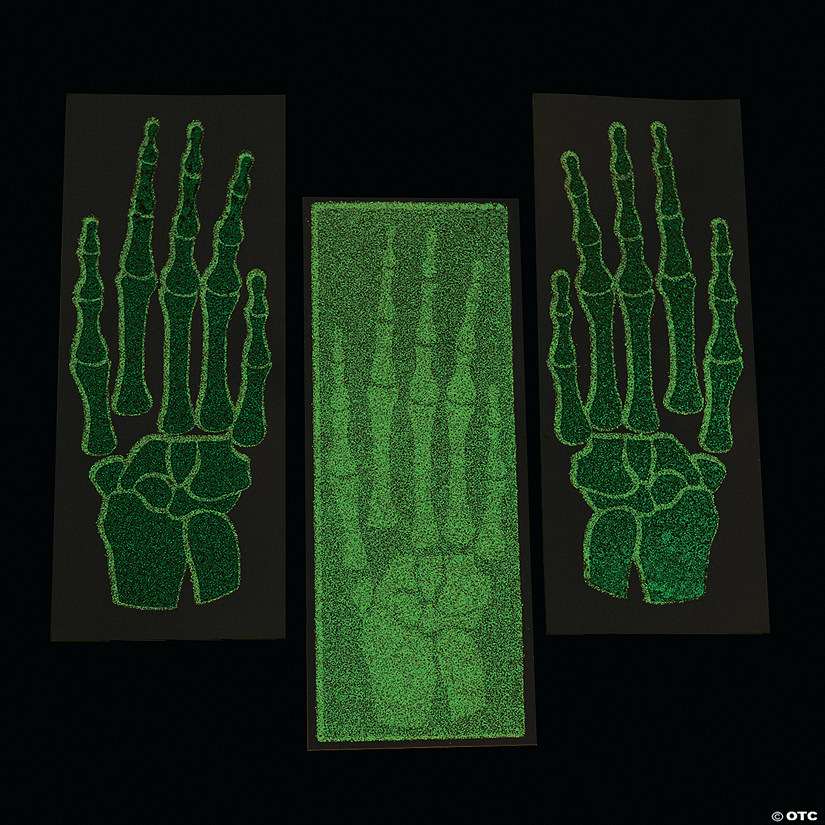 Glow-in-the-Dark Skeleton Hand Tattoos