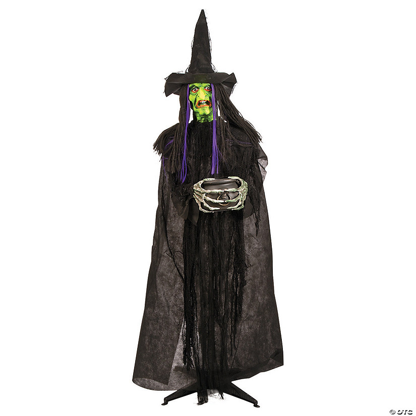 Glow-in-the-Dark Standing Witch Decoration