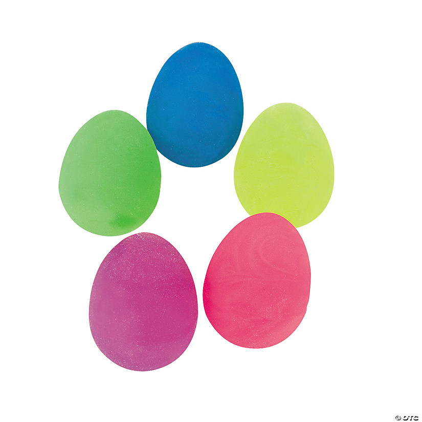 Glow-in-the-Dark Swirl Egg-Shaped Ball Assortment