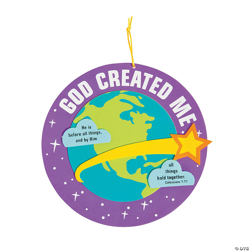 God Created Me Sign Craft Kit