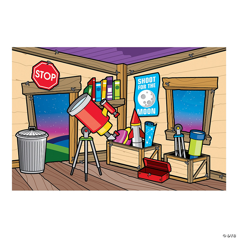 God's Galaxy VBS Clubhouse Backdrop Banner