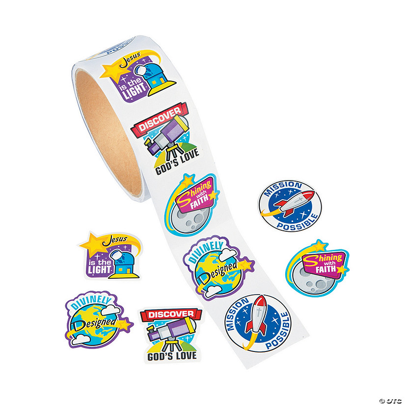 God's Galaxy VBS Stickers