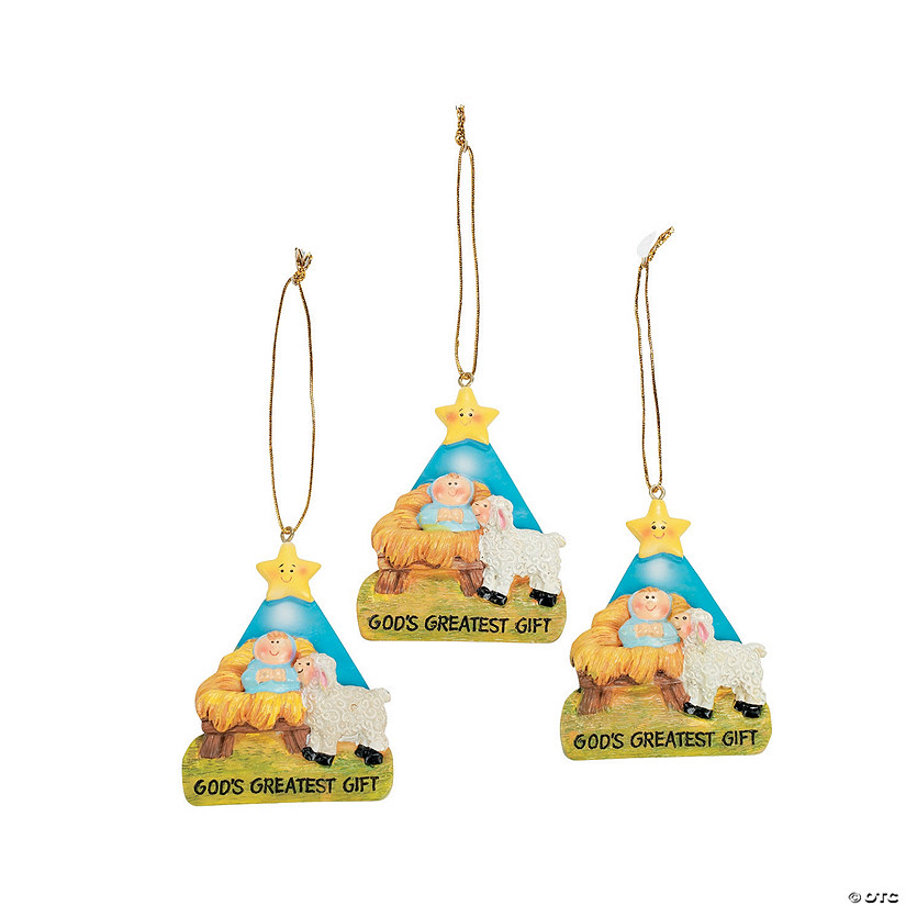 """God's Greatest Gift"" Christmas Ornaments"