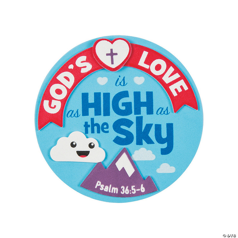 God's Love Is as High as the Sky Magnet Craft Kit