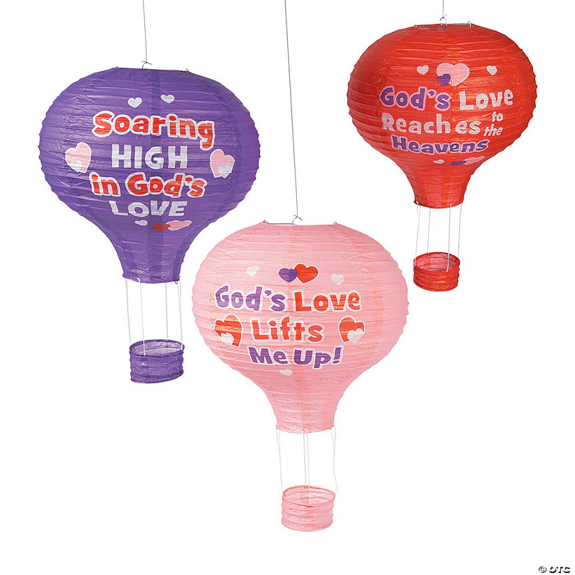 God's Love Lifts Me Up Hanging Paper Lanterns