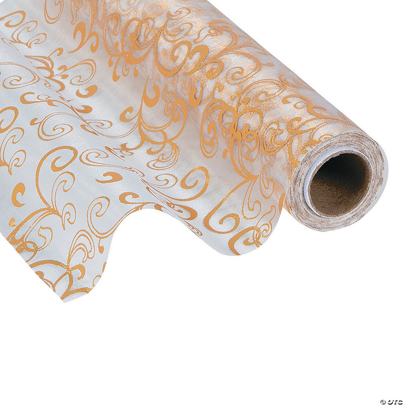 Gold & Silver Reversible Organza Roll