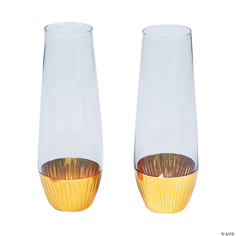 Gold Base Bud Vases