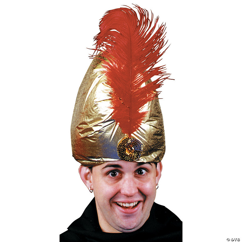 Gold Deluxe Turban with Plume