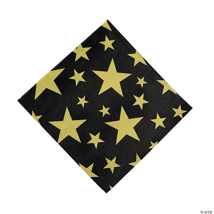 Gold Foil Star Luncheon Napkins