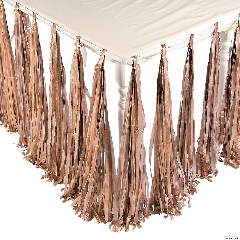 Gold Fringe Table Skirt