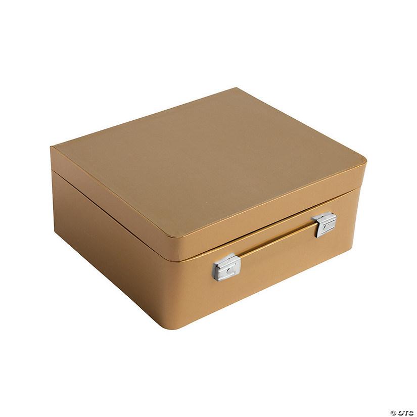 Gold mini suitcase centerpiece