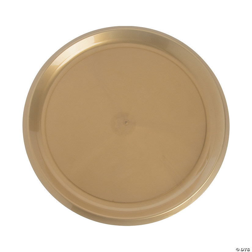 Gold Round Plastic Serving Plate