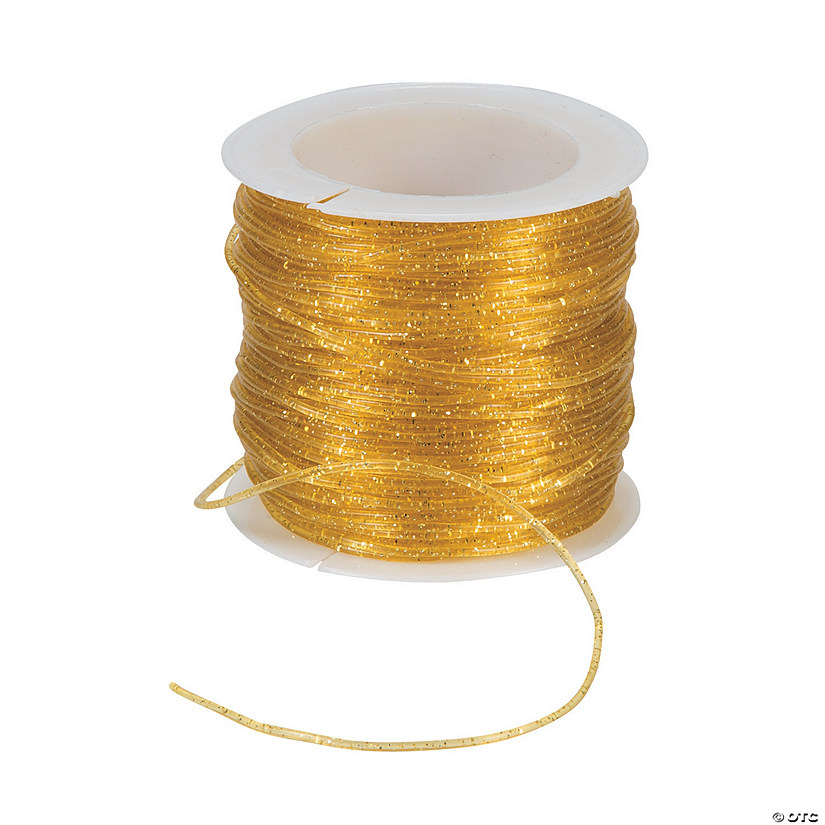 Gold Sparkle Stretchy Cording