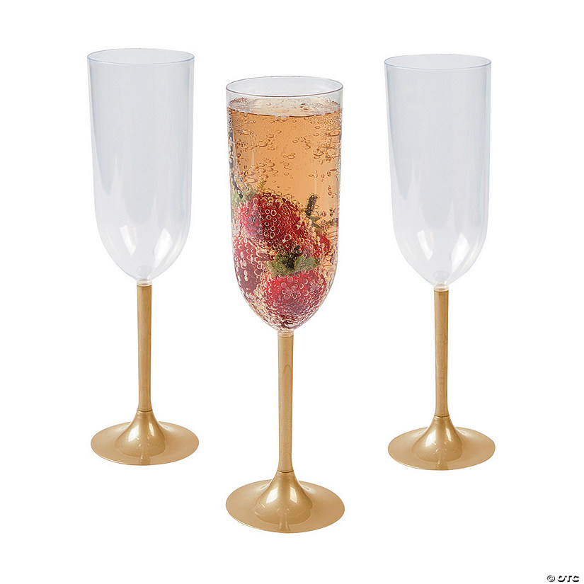 Gold Stem Champagne Glasses