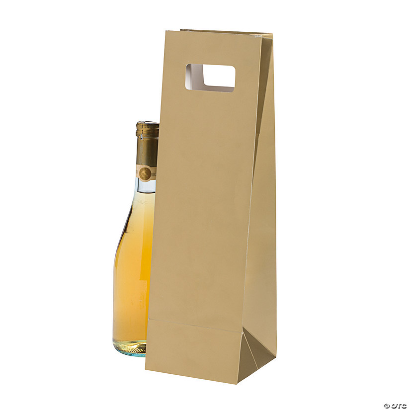 Gold Wine Gift Bags