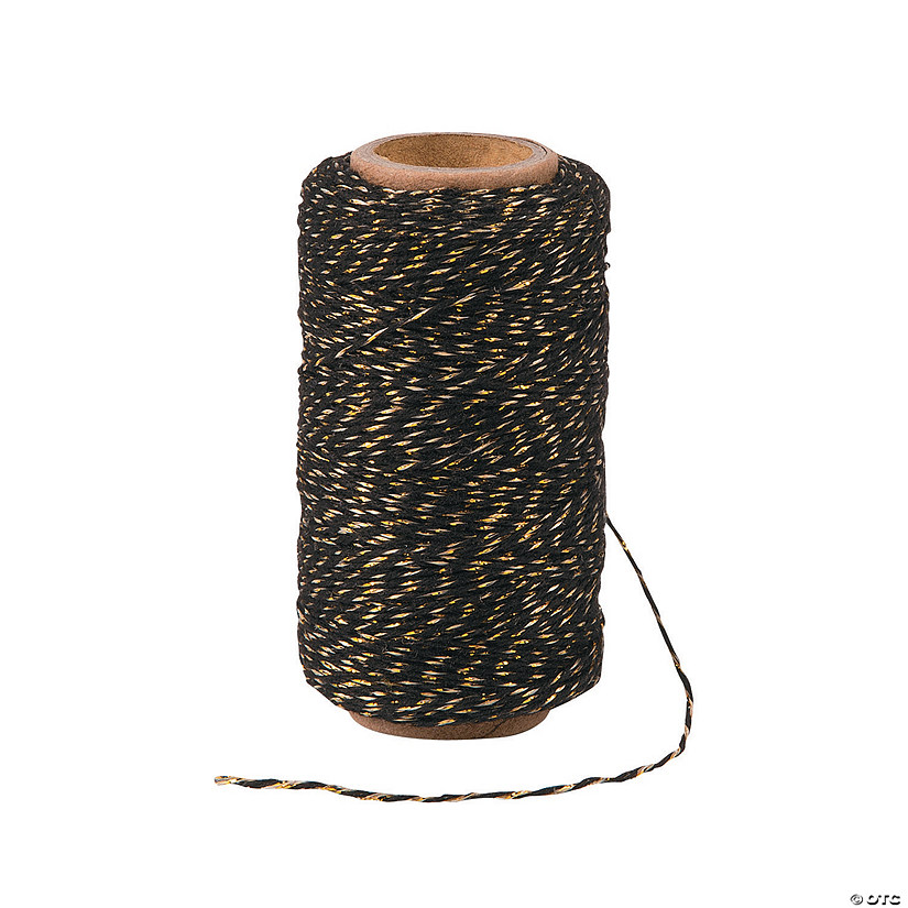 Gold/Black Baker's Twine