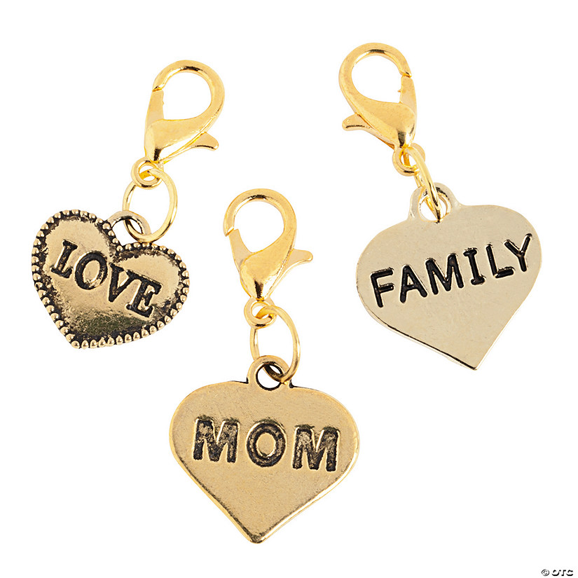 Goldtone Family Charms