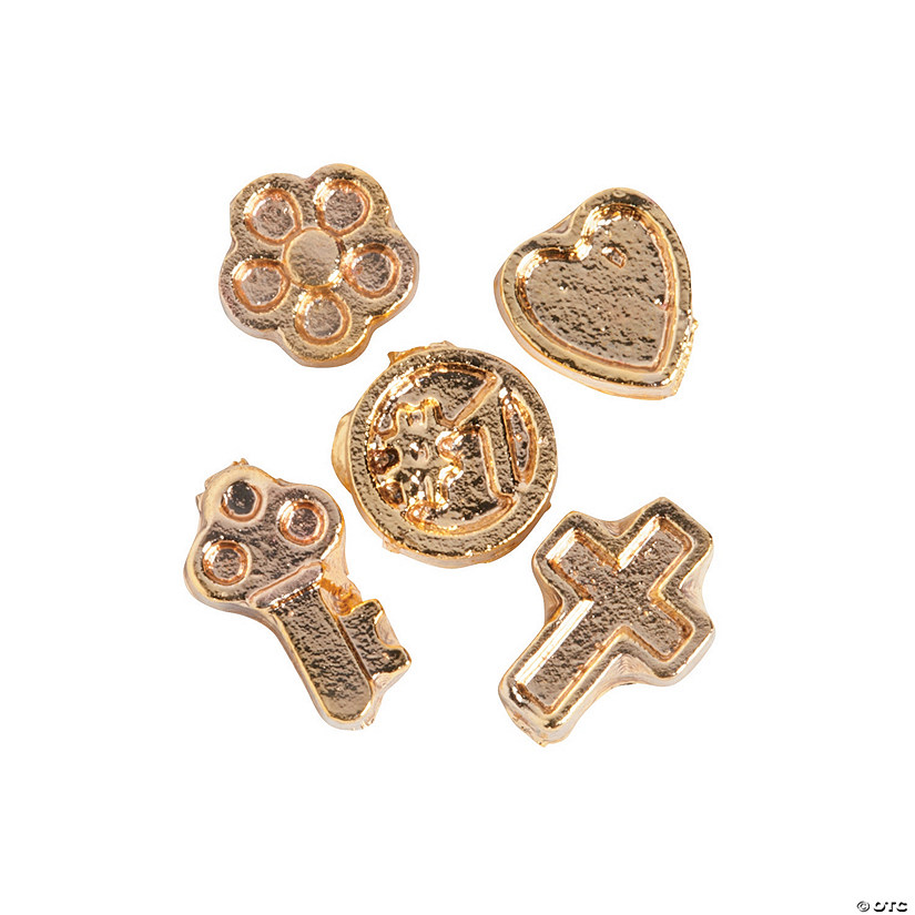 Goldtone Fun Floating Charm Assortment